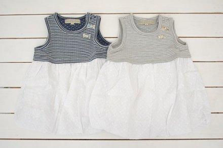 【メール便可】Little s.t. by s.t.closet s.t.クローゼット ボーダー柄バルーンジャンスカ