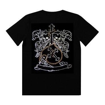 クリスタル Tシャツ/クロス・エンブレム