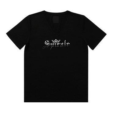 クリスタル Tシャツ/ロゴ・クラウン