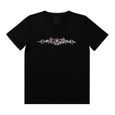 クリスタル Tシャツ/唐草
