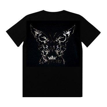 クリスタル Tシャツ/バタフライ