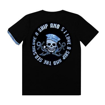 <img class='new_mark_img1' src='https://img.shop-pro.jp/img/new/icons1.gif' style='border:none;display:inline;margin:0px;padding:0px;width:auto;' />クリスタル Tシャツ/マリンスカル