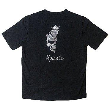 クリスタル Tシャツ/シャドースカル
