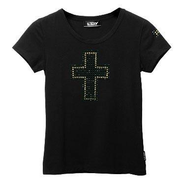 クリスタル・レディースTシャツ/クロス