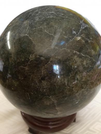 きれい!マダガスカル産!魂に働きかける石。大きなラブラドライト 6