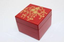 ミニオルゴール宝石箱 朱 桜