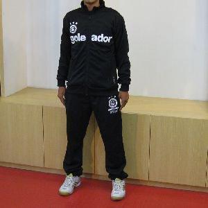 【送料無料】 goleador ジャージ上下セット BLACK