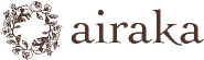 ウェディングブーケと花の髪飾り、ハレの日のアーティフィシャルフラワー(造花)airakaのロゴ画像
