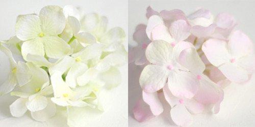 アーティフィシャルフラワー(造花)の紫陽花の髪飾り(ホワイトグリーン)画像_airaka