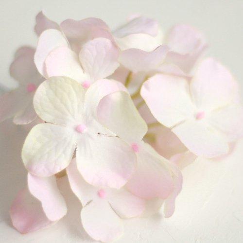 アーティフィシャルフラワー(造花)の紫陽花の髪飾り(ホワイトピンク)画像_airaka