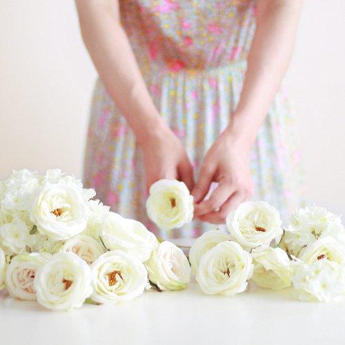 アーティフィシャルフラワー(造花)のウェディングブーケ手作りキット商品画像_airaka