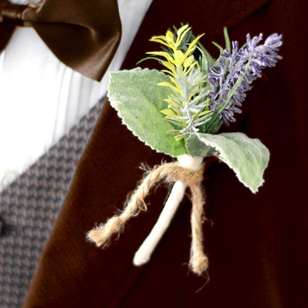 アーティフィシャルフラワー(造花)のラベンダーのクラッチブーケ画像_airaka