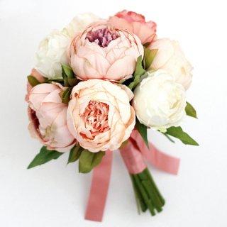 アーティフィシャルフラワー(造花)の芍薬のクラッチブーケ画像_airaka
