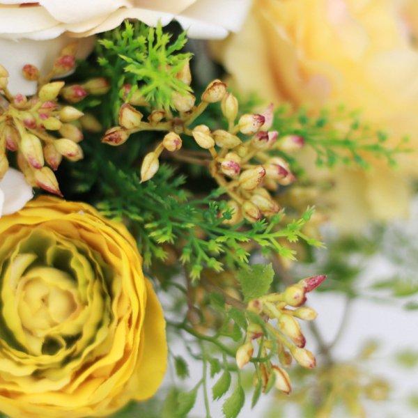 アーティフィシャルフラワー(造花)のバラとアジアンタムのクラッチブーケ画像_airaka