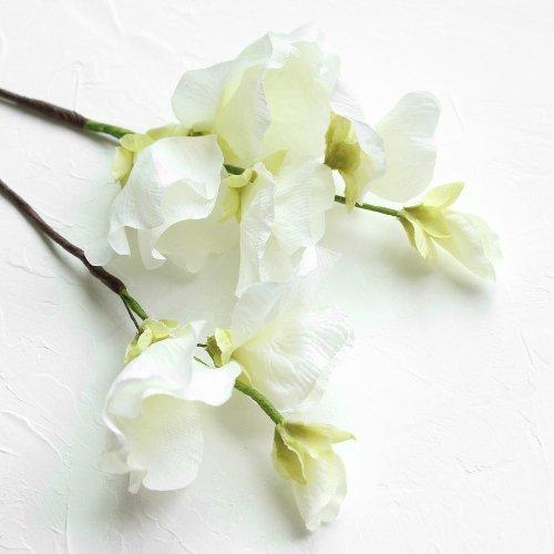 アーティフィシャルフラワー(造花)のアマリリスの髪飾り(白)_airaka