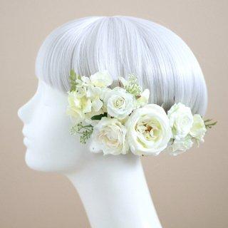 ピュアローズの髪飾り(白)画像_airaka