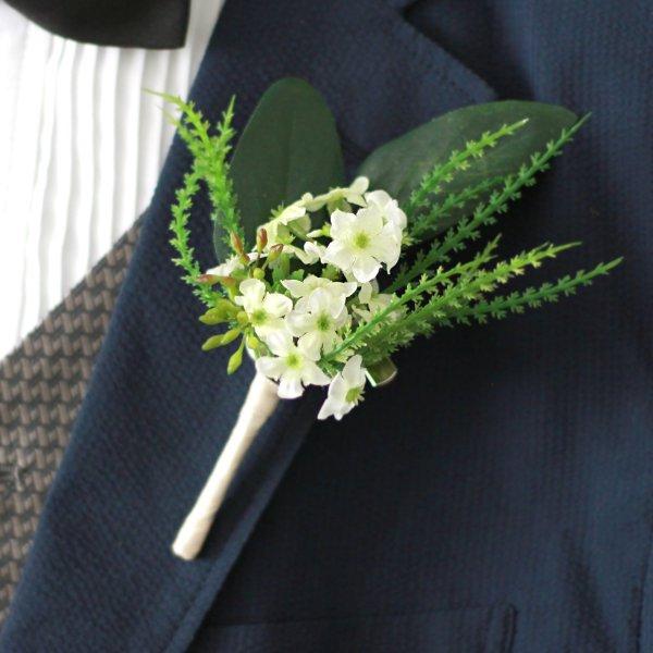 アーティフィシャルフラワー(造花)の紫陽花のクラッチブーケと髪飾りのセット(緑)_airaka