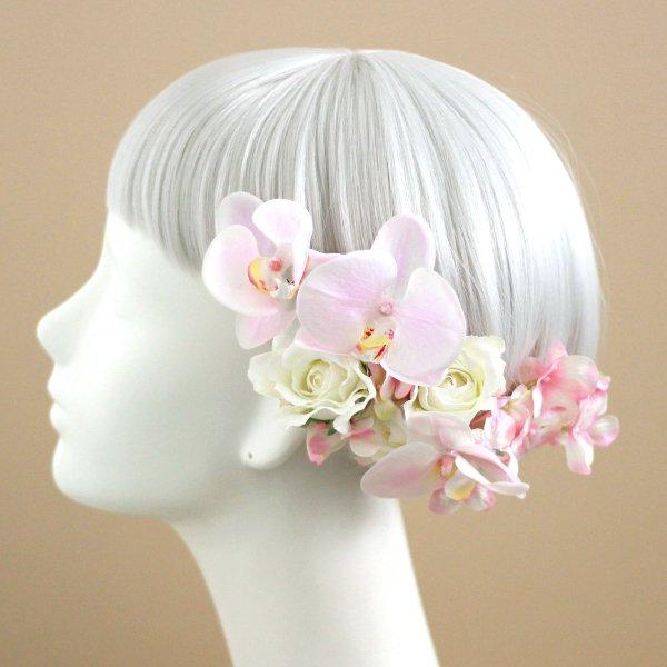 アーティフィシャルフラワー(造花)の胡蝶蘭のティアドロップブーケ(ピンク)_airaka