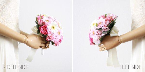 アーティフィシャルフラワー(造花)のガーベラのラウンドブーケ(ピンク)画像_airaka