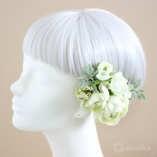 アーティフィシャルフラワー(造花)のラナンキュラスの髪飾り画像_airaka