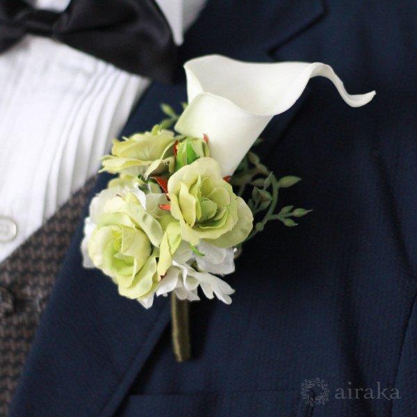 アーティフィシャルフラワー(造花)のカラーのアームブーケ画像_airaka