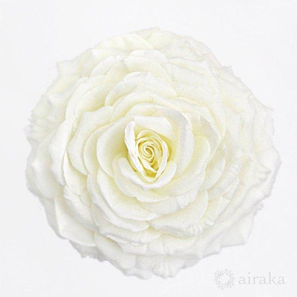 アーティフィシャルフラワー(造花)のバラのメリアブーケ(白)画像_airaka