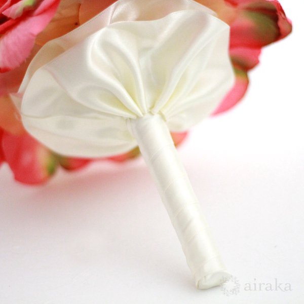 アーティフィシャルフラワー(造花)のバラのメリアブーケ(ピンク)画像_airaka