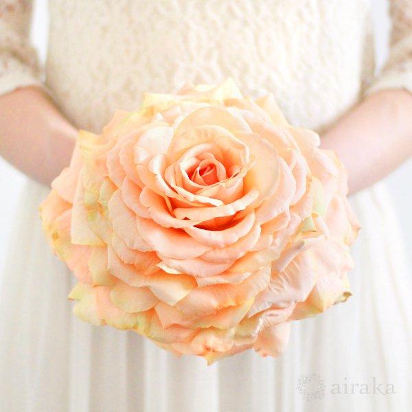 アーティフィシャルフラワー(造花)のバラのメリアブーケ(オレンジ)画像_airaka
