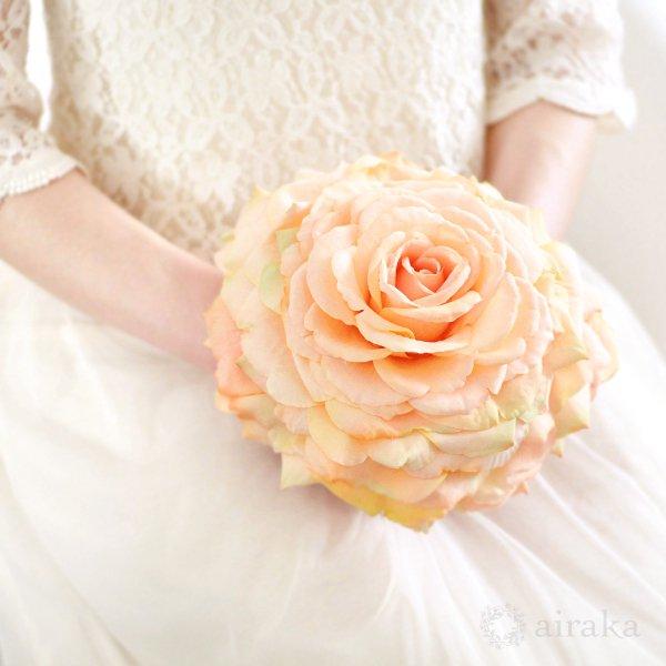 アーティフィシャルフラワー(造花)のバラのメリアブーケ(オレンジ)_airaka