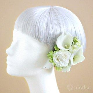 アーティフィシャルフラワー(造花)のカラーの髪飾り画像_airaka