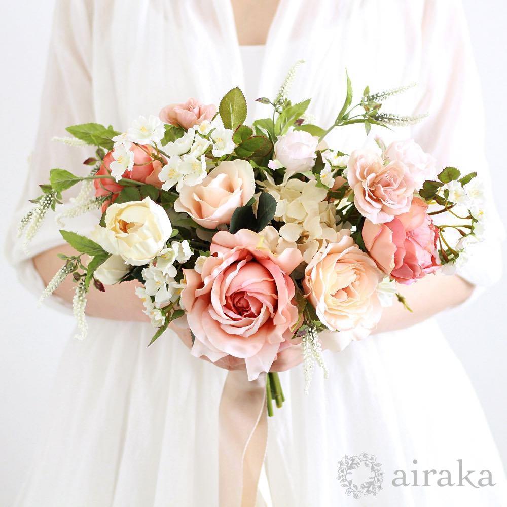 アーティフィシャルフラワー(造花)のフレンチローズのブーケ商品画像_airaka