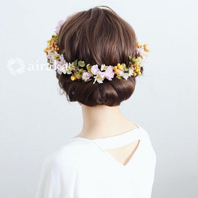 アーティフィシャルフラワー(造花)のラベンダー色のデルフィニウムの花冠画像_airaka