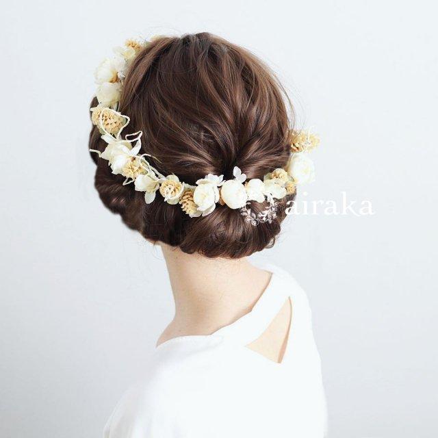 アーティフィシャルフラワー(造花)の髪飾り/木の実とツイッグの花冠画像_airaka