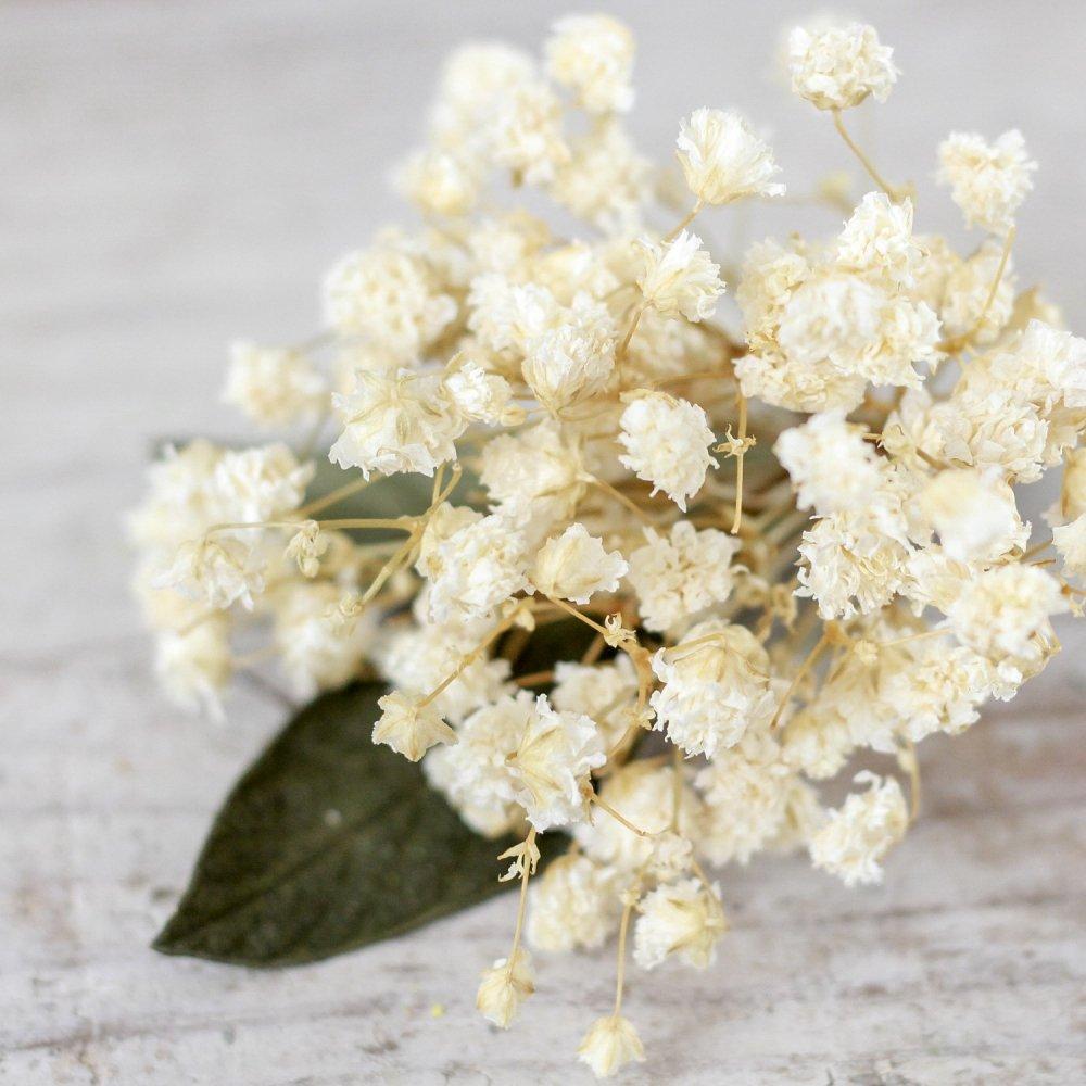アーティフィシャルフラワー(造花)のコサージュ/ミニブーケ(かすみ草)画像_airaka
