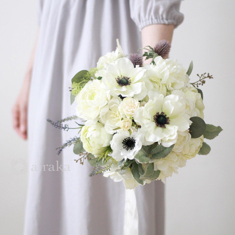 アーティフィシャルフラワー(造花)のクラッチブーケ/アネモネ画像_airaka