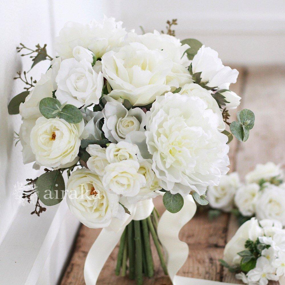 アーティフィシャルフラワー(造花)のクラッチブーケ/芍薬とバラ画像_airaka