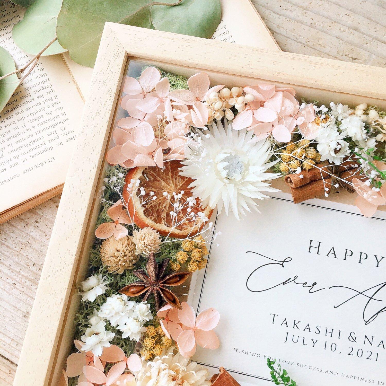 アーティフィシャルフラワー(造花)のフラワーフォトフレーム/ボタニカルオレンジ画像_airaka