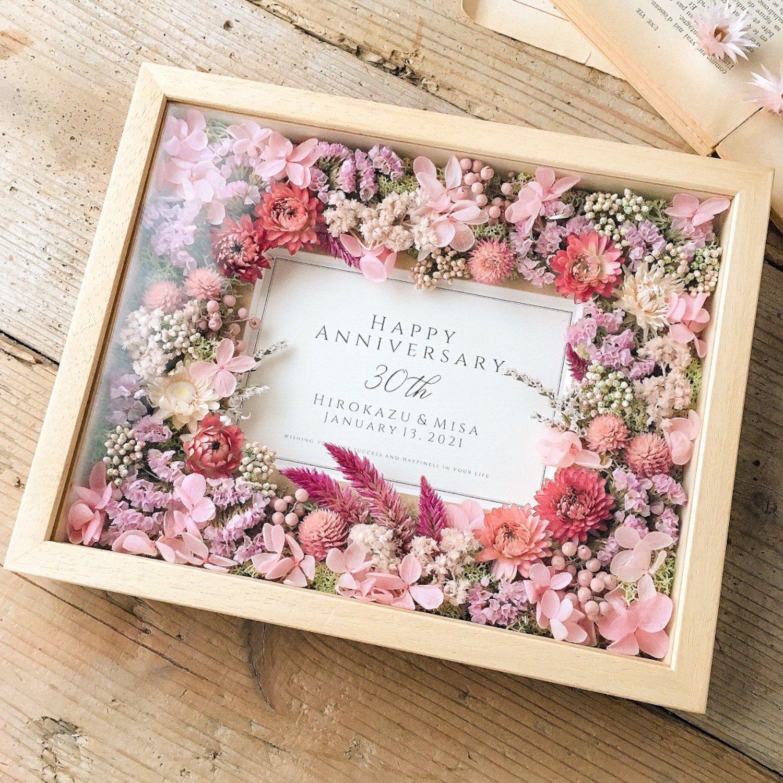 アーティフィシャルフラワー(造花)のフラワーフォトフレーム/ピンクパレット画像_airaka