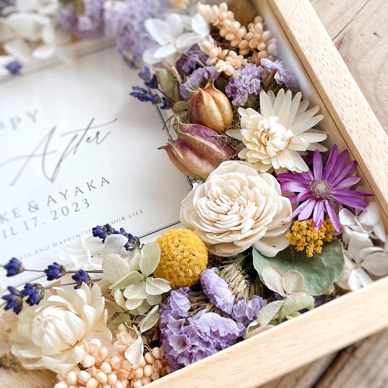 アーティフィシャルフラワー(造花)のフラワーフォトフレーム/ラベンダー画像_airaka