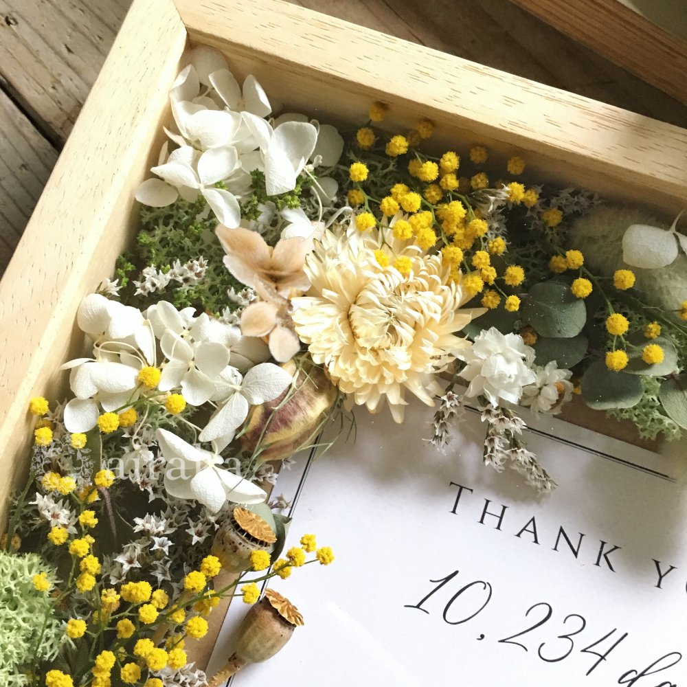 アーティフィシャルフラワー(造花)のフラワーフォトフレーム/ミモザ画像_airaka