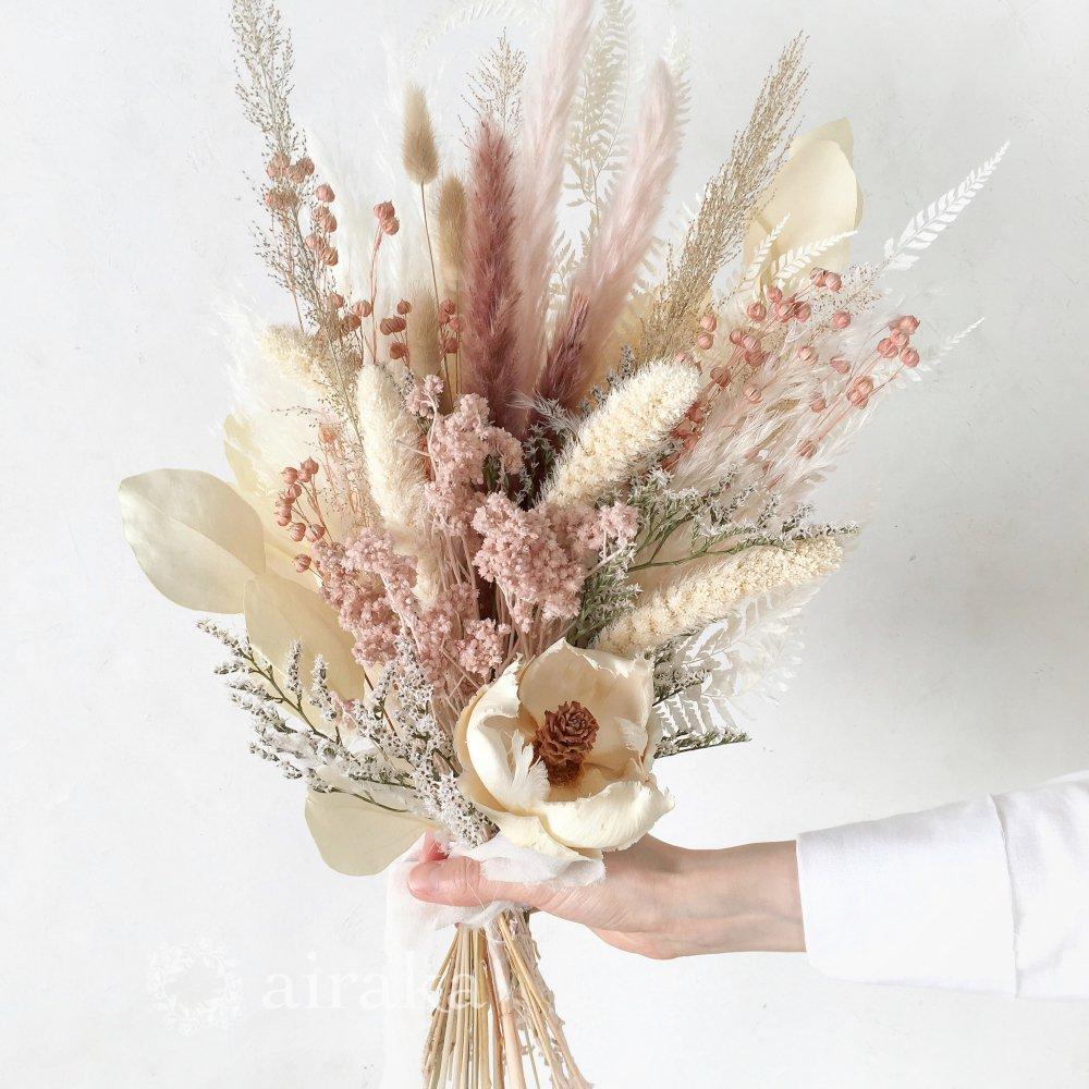 アーティフィシャルフラワー(造花)のスワッグ/スモーキーピンク画像_airaka
