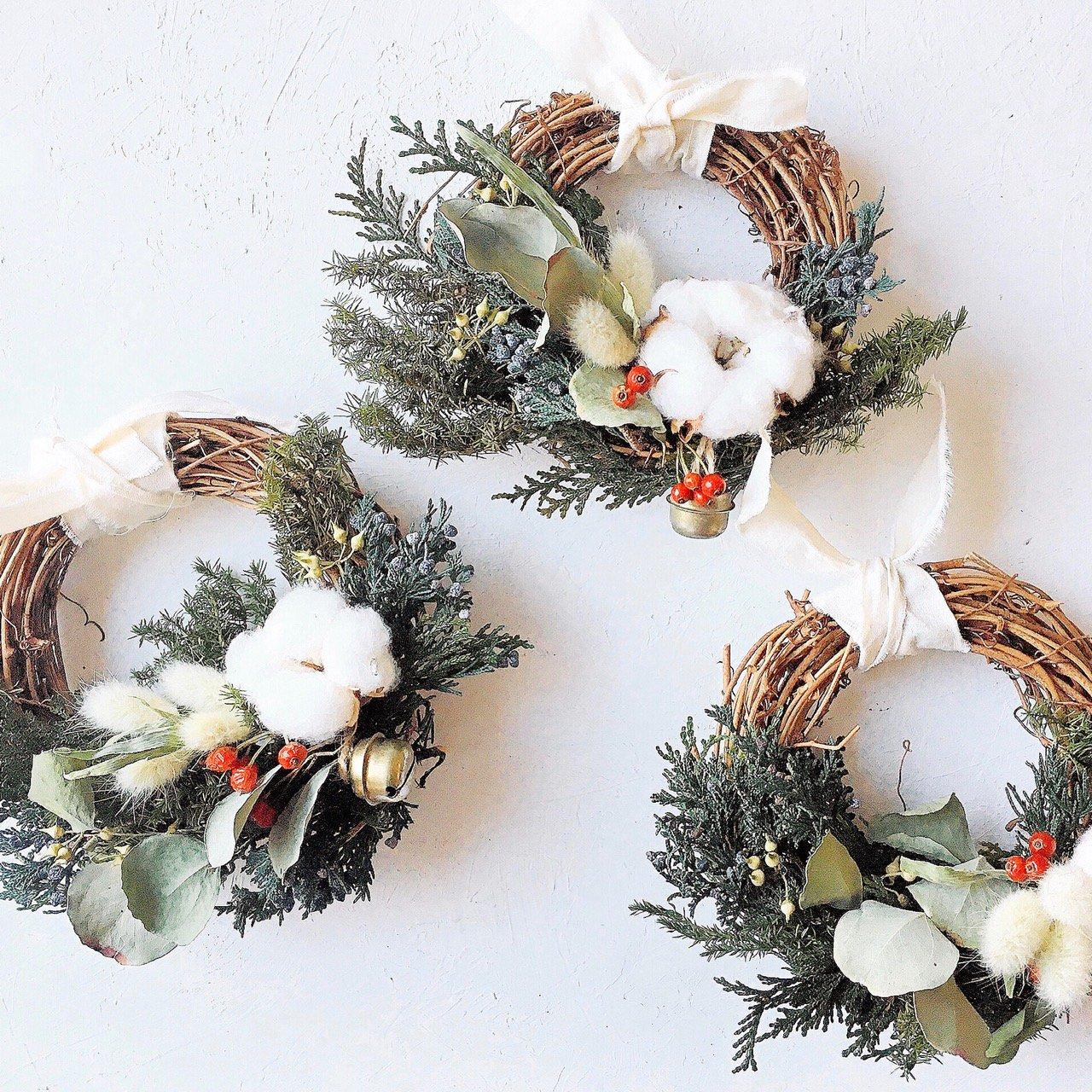 アーティフィシャルフラワー(造花)の手づくりキット/クリスマスミニリース画像_airaka