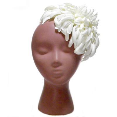 アーティフィシャルフラワー(造花)のペタルチュチュのプラトーハット(ホワイト)画像_airaka