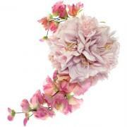 アーティフィシャルフラワー(造花)のアマリリスの髪飾り(シフォンピンク)画像_airaka