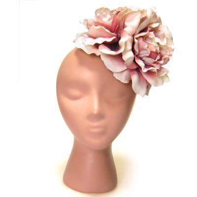 アーティフィシャルフラワー(造花)のクラシカルピオニーの髪飾り(クリームモーブ)画像_airaka