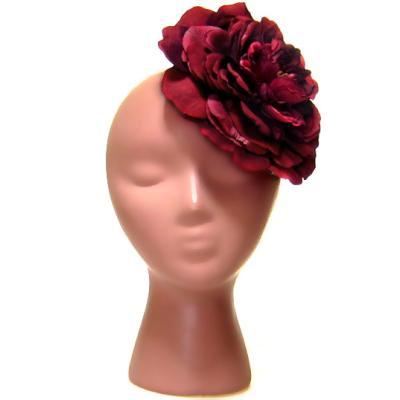 アーティフィシャルフラワー(造花)のリュクスローズの髪飾り(レッド)画像_airaka