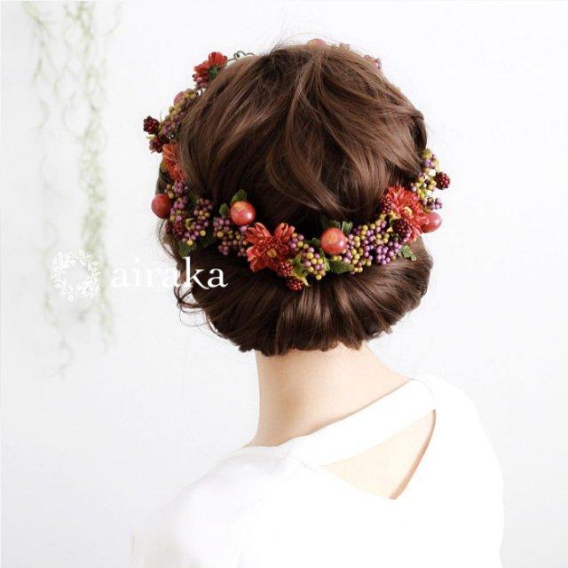 アーティフィシャルフラワー(造花)のラズベリーの花冠画像_airaka