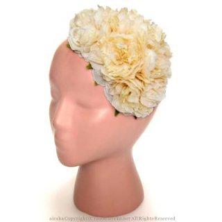 アーティフィシャルフラワー(造花)のフリルラナンキュラスのボンネット画像_airaka