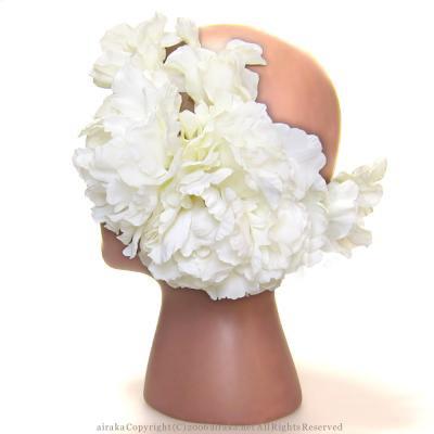 アーティフィシャルフラワー(造花)のマリアピオニーのヘッドドレス画像_airaka