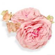 アーティフィシャルフラワー(造花)のプリエールローズのヘッドドレス(ハーバルピンク)画像_airaka